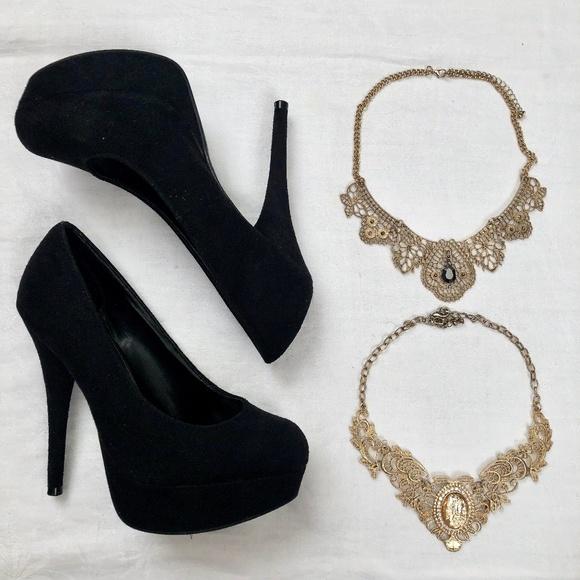 Brash Shoes - Black suede stiletto heels